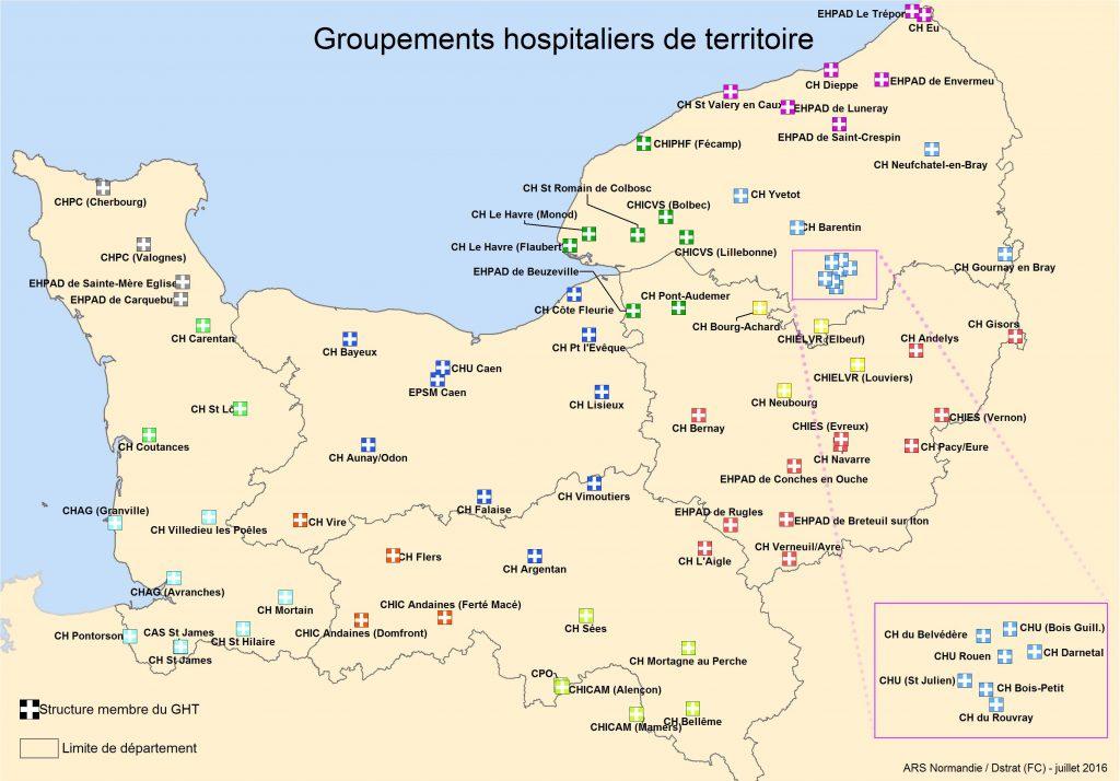 Cartographie_GHT_ARS_Normandie_1er_juillet_2016